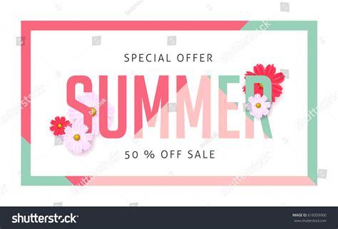 design banner sle summer sale banner design templatevector illustration