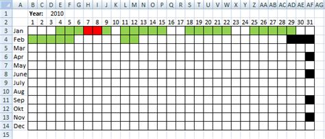 overlapping schedule template visualize date ranges in a calendar