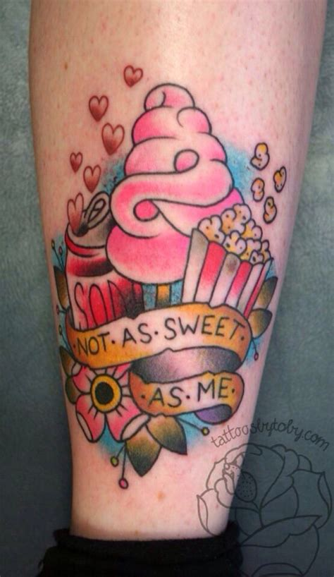 new school ice cream tattoo colorful energy ice cream tattoo design by lastinclass