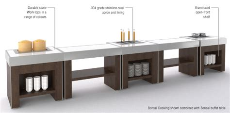 Console Coffee Table - bonsai range the ultimate in live cooking amp food service hotel management
