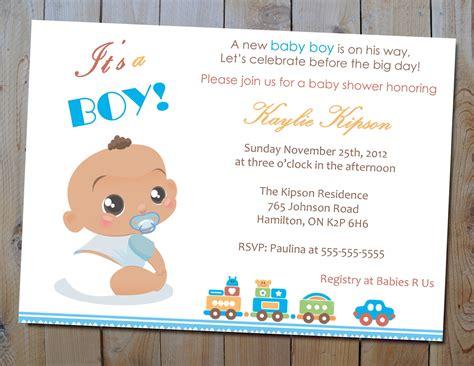 Design Baby Boy Shower Invitations Etsy Baby Shower Invitation Templates