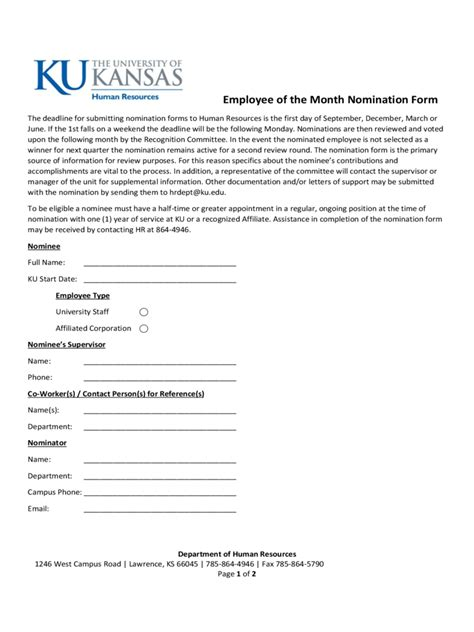 employee of the month nomination form template employee of the month nomination form 5 free templates