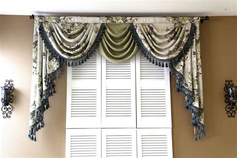 curtains with swag valance appalachian spring swag valance curtains