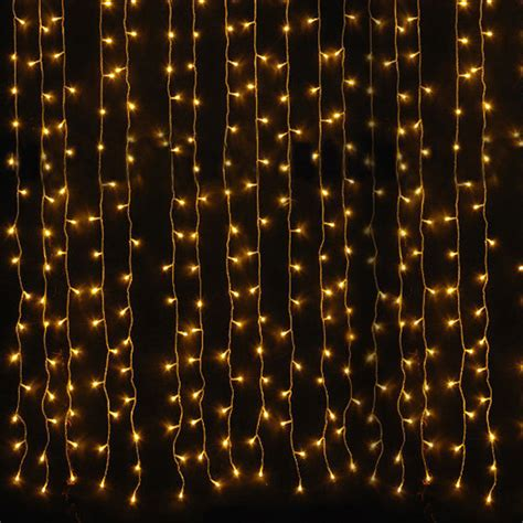 2x 6mx3m 600led warm white fairy curtain net light xmas