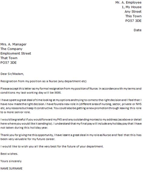 amazing awesome sample resignation letters for nurses images