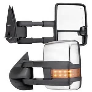 chevy silverado 2007 2013 chrome towing mirrors led drl
