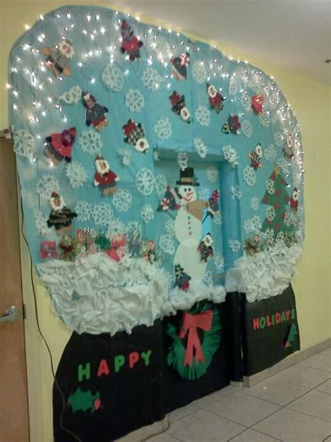 snow globe christmas classroom door decoration christmas