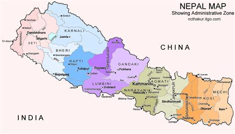 where is nepal on the map kathmandu nepal map
