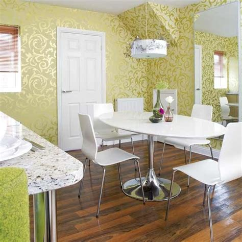 wallpaper ideas for dining room shimmering wallpaper dining room dining rooms decorating ideas image housetohome co uk