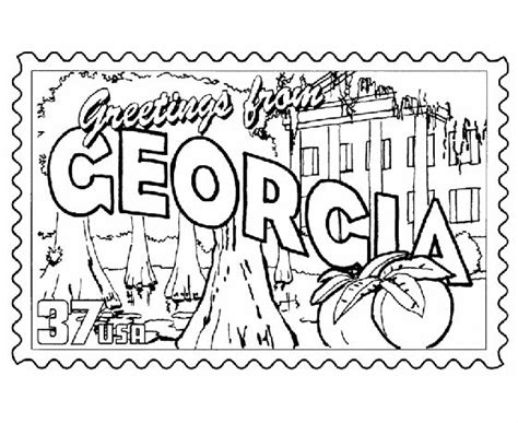georgia coloring pages and coloring on pinterest