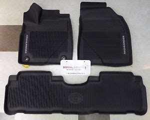 Highlander Floor Mats All Weather by Toyota Highlander 2014 2017 All Weather Floor Liners
