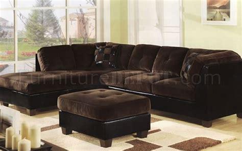 chocolate microfiber sectional two tone chocolate dark brown modern sectional sofa dark