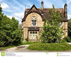 English Tudor Cottage a typical english house with garden royalty free stock