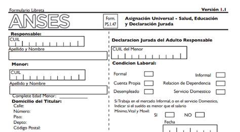 asignacion por escolaridad anses asignaci 243 n universal pasos para presentar el formulario 1