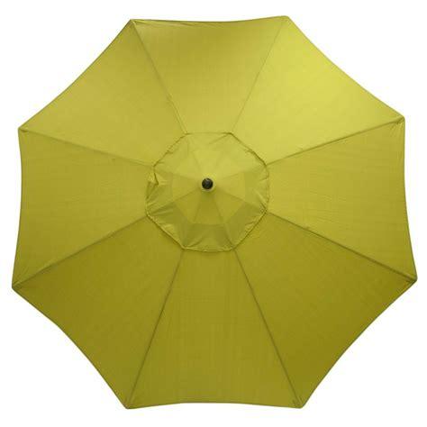 hton bay 11 ft solar offset patio umbrella in cafe
