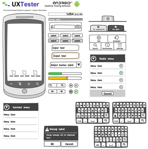 android gui design template free wireframing kits ui design kits pdfs and resources