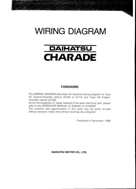 daihatsu engine wiring diagram wiring diagram manual