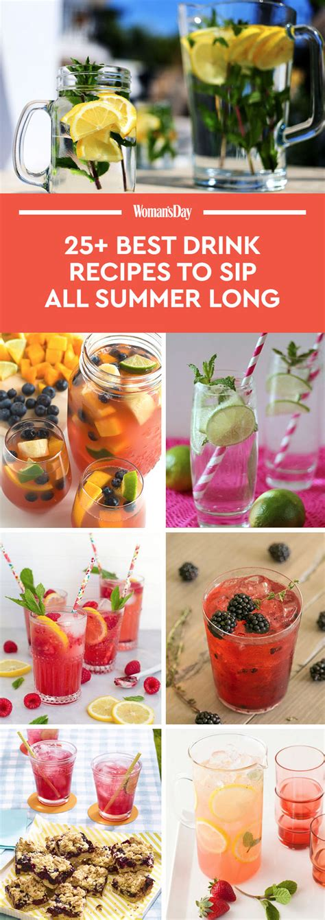 summer cocktail recipes 33 best summer drink recipes easy non alcoholic summer