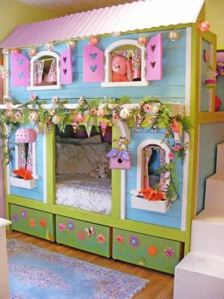 ana white candyland cottage loft bed diy projects diy free plans to build a cottage bunk bed you can build