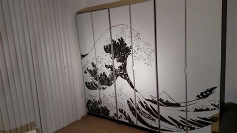Bathroom Artwork Ideas turn billy bookcases into bold large wall art ikea hackers