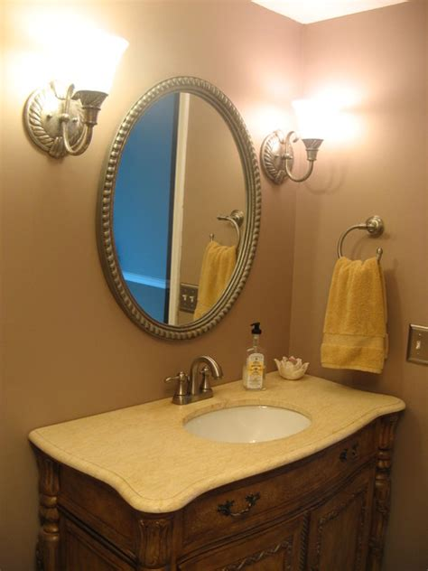 Half Bath Sink Vanity Half Bath Vanity Traditional Bathroom Detroit