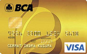 bca debit card kartu kredit bca gold visa cermati