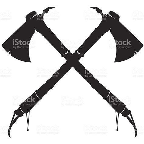 crossed tomahawk axes stock vector 115081641 istock
