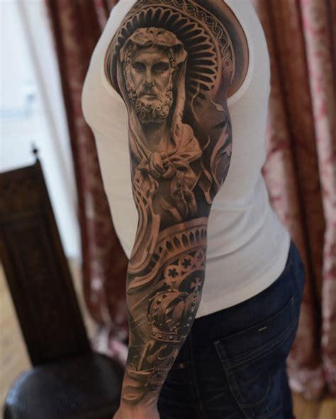 tattoo pedro quebec relligious tattoo full sleeve religion pinterest