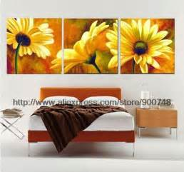 The beautiful real art flower wall canvas painting ideas