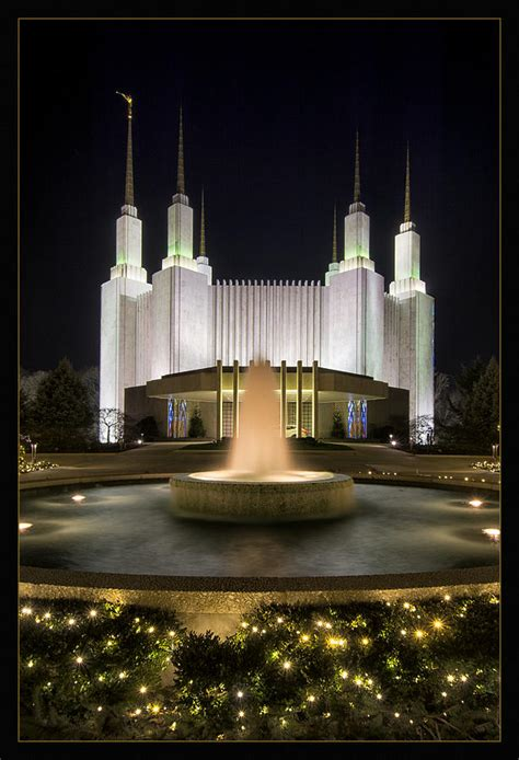 Temple Lights Photograph By Robert Fawcett Mormon Temple Lights