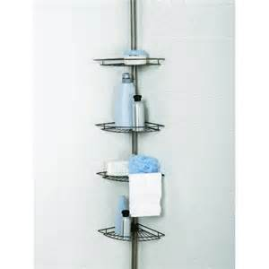 zenith 4 shelf tension pole corner shower caddy ebay
