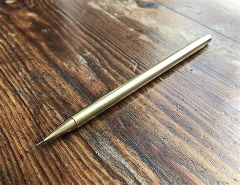 Handmade Pencils - hemi works handmade brass mechanical pencil 187 gadget flow