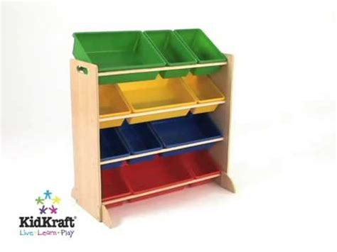 kidkraft estanteria  cajones de almacenaje en colores primarios  youtube