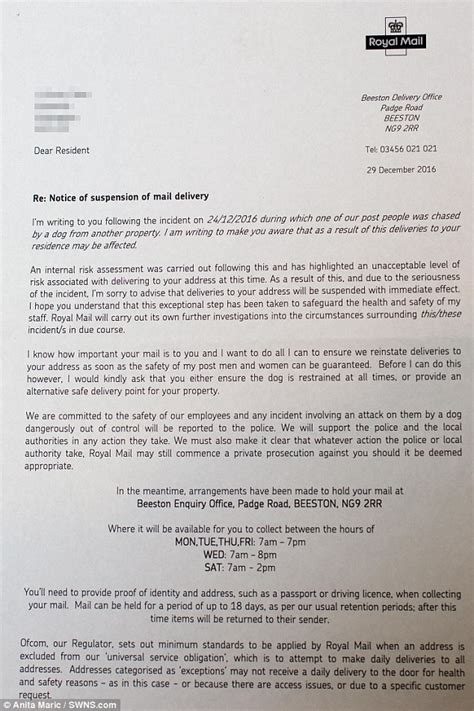 Explanation Letter Not Hitting Quota postman refuses to deliver to upmarket cul de sac