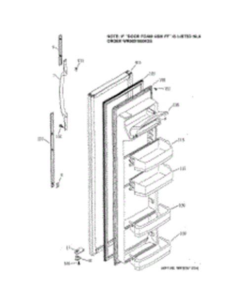 Refrigerator Door Replacement Parts by Parts For Ge Gss25jfmdww Refrigerator Appliancepartspros
