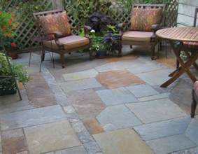 blue flagstone patio design ideas for backyard ideas with