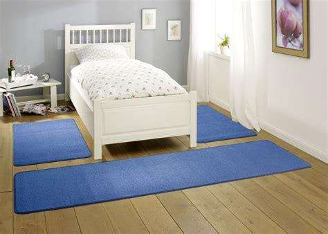 bettvorleger blau bettumrandung floor bettvorleger set verschiedene