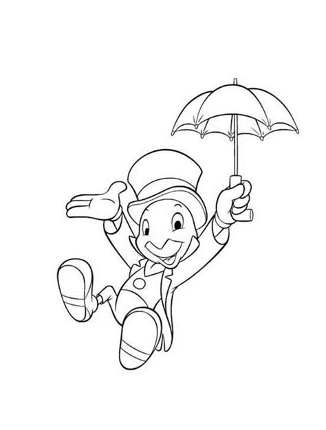disney coloring pages jiminy cricket cricket free colouring pages