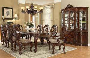 formal dining room table sets von furniture rovledo formal dining room set with leg table