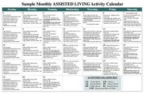 nursing home activity calendars calendar template 2016