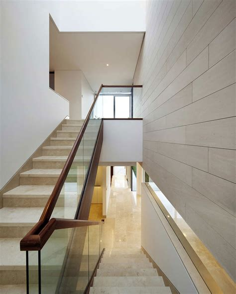 wood stair design ideas beautiful glass stair railing design exles to