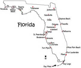 florida map with cities and towns map of florida major cities world atlas map of florida