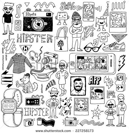 doodle free text option stock images royalty free images vectors