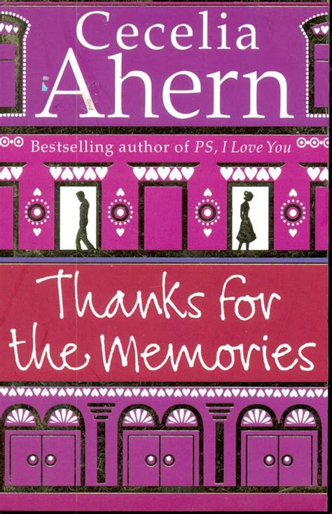 Cecilia Ahern Thanks For The Memories thanks for the memories by cecelia ahern