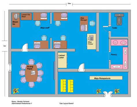 layout ruang kerja kantor contoh tata layout kantor hendra v blog