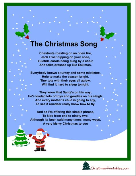 printable christmas carol song lyrics free printable carols and songs lyrics