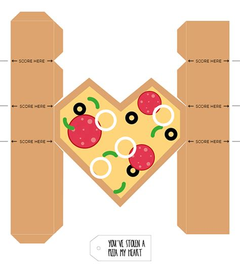 templates for heart shaped boxes printable pizza heart gift boxes for valentine s day