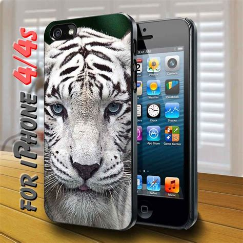 white leopard animal black for iphone 4 cellphone