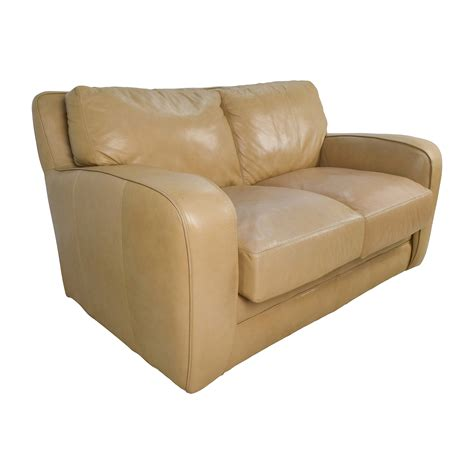 beige leather reclining sofa 50 off beige leather loveseat sofas