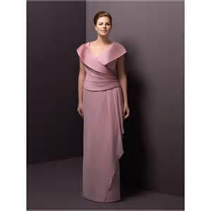 Pink satin unique shoulder mother of a bride plus size dresses
